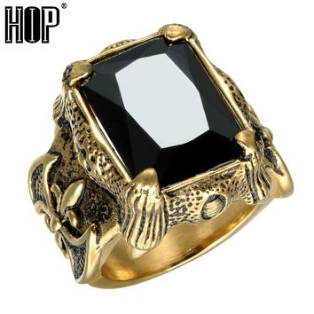 *Vintage Big Natural Stone Mens Ring