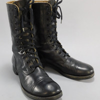 1950's Vintage Combat Boots / Paratrooper Boots / Jump Boots / Vintage Army Boots / Combat Boots / Punk Rock Boots / Military Boots
