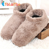 ToLaiToe 1Pair 2017 New Men's Indoor Soft-Soled Slippers Soft and Warm Non-Slip Floor Indoor Slippers Wooden Floor House Shoes