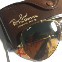 Vintage Ray Ban B&L Aviators OUTDOORSMAN II Sunglasses DRIVING SERIES B-15 TGM