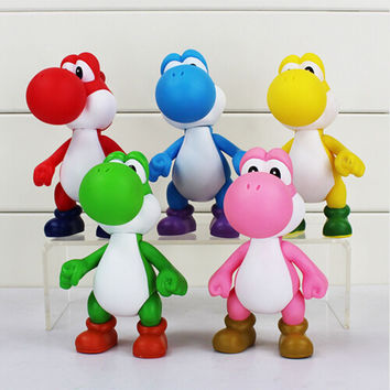 12cm Super Mario Bros The Dinosaur Yoshi PVC Action Figure Toy Collection Model Toys Dolls for Kids Children Christmas Gift