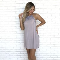 Lilac Canyon Embroidered Shift Dress