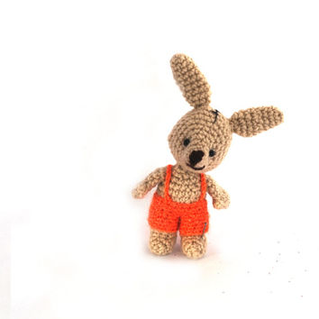 AMIGURUMI BUNNY, Easter decoration, rabbit doll, crocheted miniature rabbit, amigurumi tiny bunny, little bunny doll, home decor for Easter