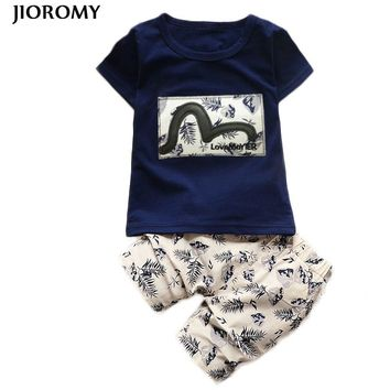 JIOROMY Kids Boys Clothing Sets 2018 Summer Kids Clothes for Boys Fashion T-shirt + Pants 2 Pcs Baby Boys Toddler Suit 1-4 Years