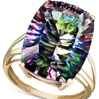 14k Gold Ring, Large Mystic Topaz (11-3/4 ct. t.w.)