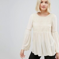 Only Lupina Wide Sleeved Blouse at asos.com