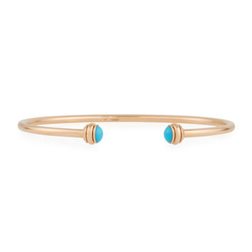 PIAGET 18k Gold Possession Turquoise Bangle with Turquoise