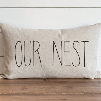 Our Nest CAPS 16 x 26 Pillow Cover