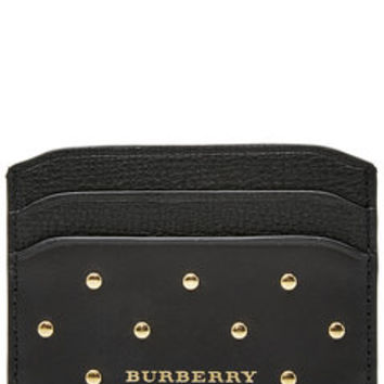 Embellished Leather Card Holder - Burberry Shoes & Accessories | WOMEN | US STYLEBOP.com