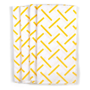 George Napkins, Yellow, Set of 4, Tablecloths