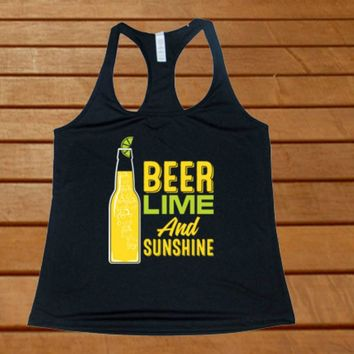 Beer Lime & Sunshine Racerback Tank