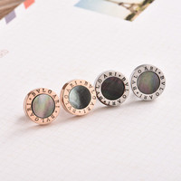 Fashion Hot Popular Women Gold Shell Alphabets Words Stud Jewelry Accessories Earrings _ 8476