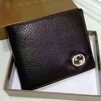 LMFUF3 Gucci Men Wallets   Leather Male Purse Small Wallets Money Bag G-LLBPFSH
