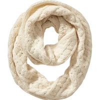 Old Navy Womens Cable Knit Infinity Scarf Size One Size - Creme de la creme