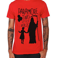 Paramore Two Different Worlds Slim-Fit T-Shirt | Hot Topic