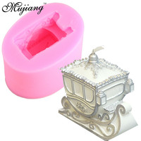 3D Christmas Sled Carriage Silicone Candle Moulds Fimo Resin Clay Soap Molds Fondant Cake Chocolate Mold Kitchen Bakeware XL161