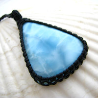 Larimar Necklace  / Larimar jewelry / Rare gems / Summer Jewelry / Dolphin Stone / Ocean / Unique Gift / Mothers day / for mom / sprimg