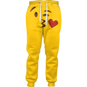 Emoji Kissing Joggers