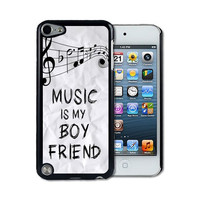 IPod 5 Touch Case Thinshell Case Protective IPod 5G Touch Case Shawnex Music Is My Boyfriend Hipster Quote