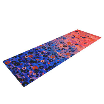 "Ebi Emporium ""What Goes Up"" Blue Pink Yoga Mat"