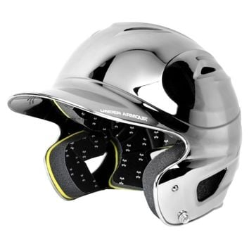 Under Armour UABH-110C Youth Solid Black Chrome Batting Helmet