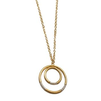 Silver Gold Circle Necklace