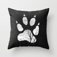 Wild Throw Pillow by Elisabeth Fredriksson