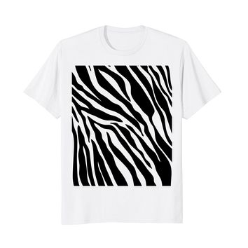 Zebra Print Shirt- Simple Halloween Costume Idea Gift