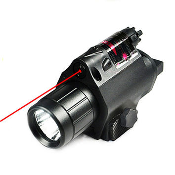 New Tactical LED Flashlight and Red Laser Sight Combo with Remote Handle and 20mm Mount For Glock 17 19 and Hunting Rifles D