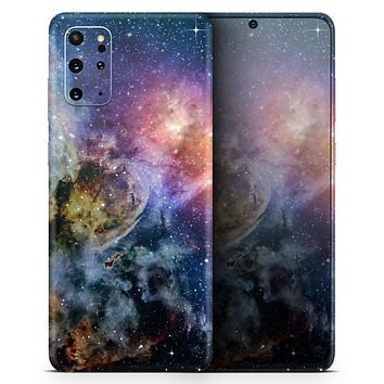 Rust and Bright Neon Colored Stary Sky - Skin-Kit for the Samsung Galaxy S-Series S20, S20 Plus, S20 Ultra , S10 & others (All Galaxy Devices Available)