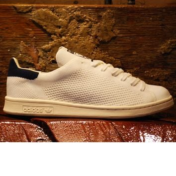 Adidas Originals Stan Smith Primeknit S75148 - White/Navy