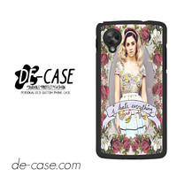 Marina And The Diamonds I Hate Everything For Google Nexus 5 Case Phone Case Gift Present YO