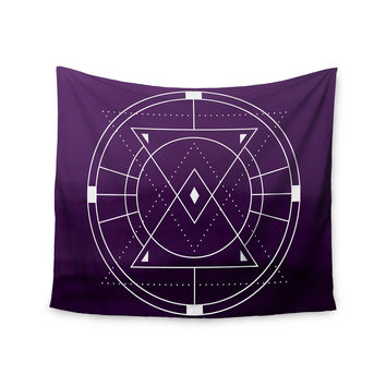 "Matt Eklund ""Mystic City"" Purple Digital Wall Tapestry"