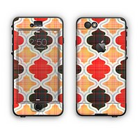 The Gold & Red Abstract Seamless Pattern V5 Apple iPhone 6 Plus LifeProof Nuud Case Skin Set