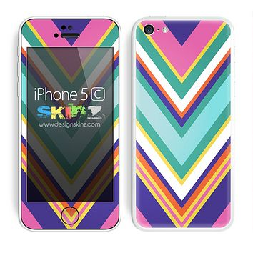 Multiple Colored Chevron Pattern V4 Skin For The iPhone 5c