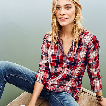 Velvet by Graham & Spencer Zari Plaid Shirt