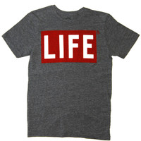 LIFE Two Color Logo on Gray Tee by Altru Apparel