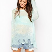 Wildfox White Label Cloudy Sky Long Sleeve Jumper