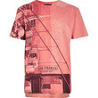 River Island Boys red textured city print t-shirt