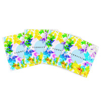 "Sreetama Ray ""Seasons Summer"" Rainbow Leaves Indoor/Outdoor Place Mat (Set of 4)"