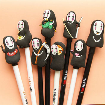 1 X cartoon gel pen Spirited Away pen canetas material escolar kawaii stationery school supplies papelaria 8 designs