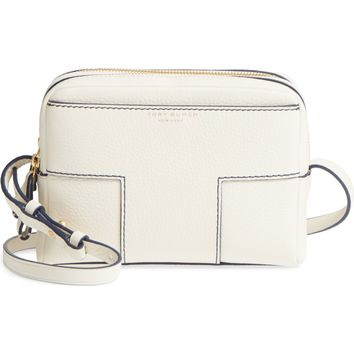 Tory Burch Block-T Double Zip Leather Crossbody Bag | Nordstrom