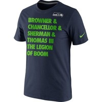 Nike Seattle Seahawks Legion of Boom Stacked T-Shirt - College Navy