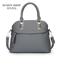 SUNNY SHOP  2016 Fashion Shell Women Bag Candy Cplor Women Messenger Bags Women Leather Handbags Designer Handbags High Quality