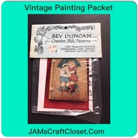 Vintage Painting Packet #13 Boy and Girl Under Umbrella