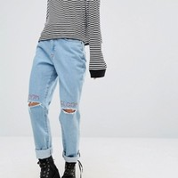 The Ragged Priest Doom And Gloom Embroidered Ripped Jeans at asos.com