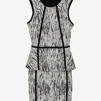Parker EXCLUSIVE Seam Detail Peplum Layer Dress-Dresses-Clothing-Categories- IntermixOnline.com