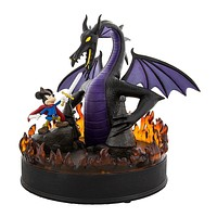 Disney Parks 25th Fantasmic Mickey & Dragon Large Figurine New with Box