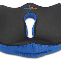 SEAT CUSHION: Coccyx Memory Foam Wedge Seat Cushion for Low Back Pain & Sciatica