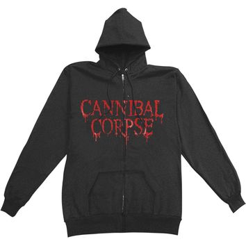 Cannibal Corpse Men's  Eaten Back To Life Zippered Hooded Sweatshirt Black